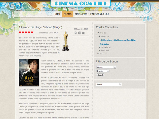 CINEMACOMLILI WEB
